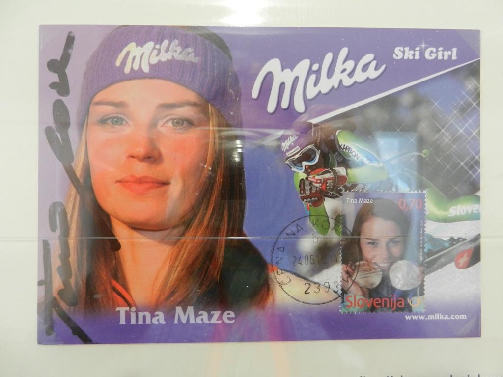 Maksimum karta - ob izidu znamke - srebrna olimpijska medalja Tine Maze 2010