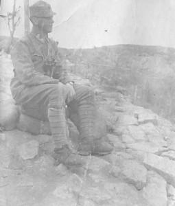 2. Praporščak na soški fronti l. 1916